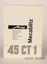 Metz 45 ct-1 manuale d'uso originale, 02840