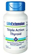 TWO BOTTLE $21.49 Life Extension Triple Action Thyroid fat burning energy weight