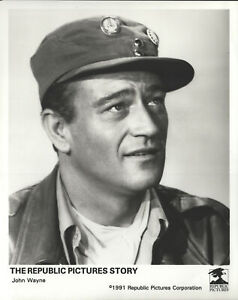 The Republic Pictures Story John Wayne 8 X 10 Black & White Glossy Photograph