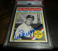 1976 Topps #347 Auto MINT 9 PSA/DNA TED WILLIAMS BOSTON RED SOX All-Time Signed