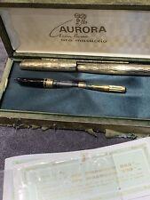 RARE aurora GRAN LUSSO fountain pen penna stilografica VERO ORO 333°/°°° BOX+GAR