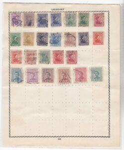 URUGUAY OLD STAMPS ON SHEET