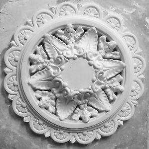 PR01 Pierced Ceiling Rose in Fibrous Plaster - 480mm - COLLECTION ONLY