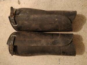 Vintage leather gaiters