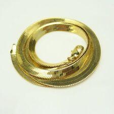 Vintage Gold Plated Sleek Herringbone Chain Necklace Very Fluid Nice Design