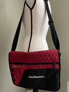 Southwest Airlines Red Nylon Laptop Computer Bag Briefcase Skinny