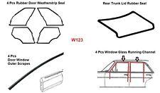 Mercedes Benz W123 Full Rubber Door Trunk Weatherstrips Gasket Seals 13 Pcs