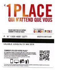 cinécarte Gaumont/Pathé périmée uniquement pour collection voir la photo