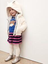 Baby Gap Girl's Ivory Faux Sherpa Cozy Bear Hoodie Jacket Coat Size 12-18 M NWT