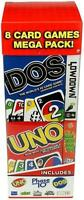 Mattel Games 8 Card Games Mega Pack Old Version UNO Phase 10 DOS Blink Low Down