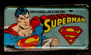 DC Comics Superman Bookends License Plate Vintage - Desperate Enterprises, Inc.