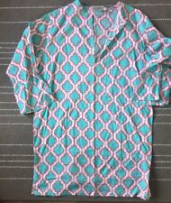 Malabar Bay Organic cotton Cover- up Women's Medium Pink Blue