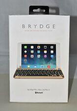 Brydge Bluetooth iPad Mini 1 ,2 and 3 Keyboard. Backlit, Aluminum - Gold