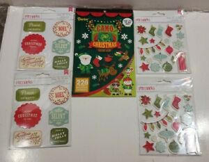 Christmas Stickers mixed Lot of 5 packages 250+ Holiday Gift card Stickers