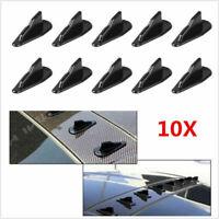 Universal EVO-Style PP Roof Shark Fins Spoiler Wing Kit Vortex Generator Black