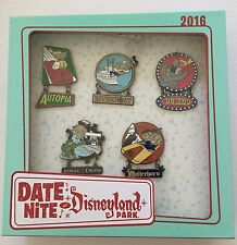 Date Nite at Disneyland Attraction Vehicles 5 Pins LE 150 Autopia Jungle Cruise