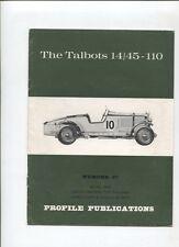 N°8896 / plaquette historique The Talbot 14/45-110
