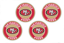 (4) San Francisco 49ers NFL Decals / Yeti Stickers *Free Shipping