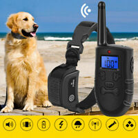 Electric Dog Shock Training Collar Rechargeable 330 Yards Remote Waterproof IP67