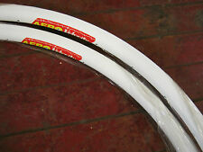 New VELOCITY AERO 700c Rim(s) 32h WHITE Clincher Non-Mach.Brake Trk. Aussie Made