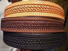 WESTERN WEAVE EMBOSSED Brown,Tan,Black LEATHER Belt 625