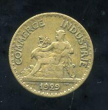 50 centimes   1929  ( le 2 fermée)   CHAMBRE DE COMMERCE