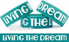 "Living the Dream One Inch 1"" Wrist Band Bracelet Popular New Wristband Design"