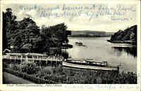 die Elbphilharmonie Postkarte: Hamburg Schiff San Diego und Vollmond Elphi