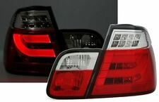 LED LightBar tube taillights set in red clear for BMW 3 Series E46 sedan 98-01