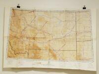 Vintage WWII Regional Aeronautical Chart (2M) 1944 Montana Dakota Wyoming Idaho