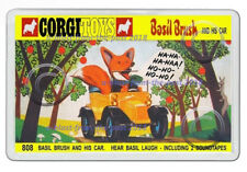 CORGI TOYS 808 BASIL BRUSH AND HIS CAR BOX ART NEW JUMBO FRIDGE LOCKER MAGNET