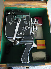 Vintage Paillard Bolex H8 Double 8MM 1955 Movie Camera w/Accessories