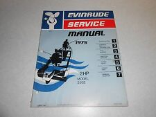 1975 2 hp Genuine EVINRUDE JOHNSON Outboard Repair & Service Manual 2hp