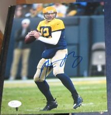 AARON RODGERS GREEN BAY PACKERS SIGNED AUTOGRAPHED RETRO 8x10 PHOTO JSA Q41190