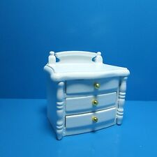 Dollhouse Miniature Bedroom Night Stand / Side Table in White ~ T5673
