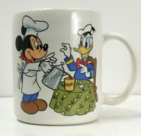 Vintage Porcelain Mug with Chef Mickey and Donald Duck Walt Disney Production