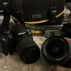 Near Mint! Nikon D3000 with AF-S 18-55mm and 55-200mm ED VR - 10 PIECE SET