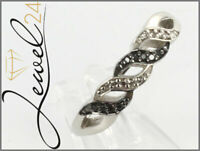 Private Diamonds Ring echt Silber 925 Sterling rhodiniert mit Diamant 66/21MM