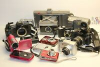 Lot of 13 Digital Cameras Nikon Canon Polaroid Sony Finepix Olympus For Parts