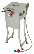 BAYOU 700-725 2.5 GALLON STAINLESS STEEL PROPANE DEEP FRYER W/ BASKET REGULATOR