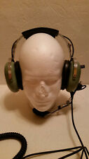David Clark H10-40 Pilot Aviation Headset, M4 Mic, Dual Plug & PTT C10-15 EUC