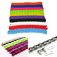 Bicycle Bike Chain Single Speed 1/2''x1/8'' Colours MTB BMX Fixie Fixed Gear NEW