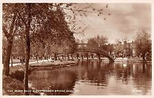 BR67379 the river duse and suspension bridge bedford real photo  uk 14x9cm