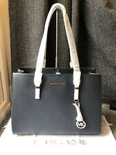 BNWT Genuine Michael Kors Large Jet Set Travel E/W Leather Tote Bag in Admiral