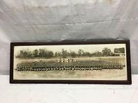 Original US Military World War II Camp Wheeler 1945 11th Battalion Framed Pic