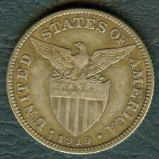 1919-S US Administration Philippines Fifty 50 CENTAVOS United States Silver Coin