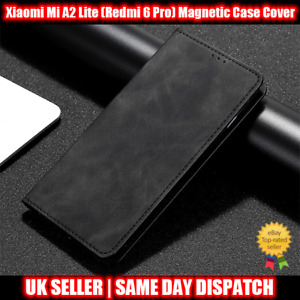 Magnetic Book Cover Case for Xiaomi Mi A2 Lite (Redmi 6 Pro) Card Wallet Leather