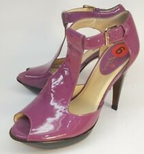 Cole Haan Wos Shoes Alegria Heels US 6 B Purple Patent Leather Dance Party 2440