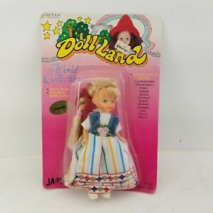 Vintage NEW JA-RU Doll Land World Collection Poland Doll Vinyl Head