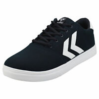 hummel Essen Mens Navy White Synthetic & Textile Casual Trainers